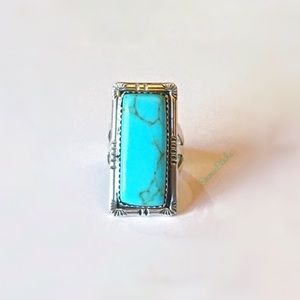 🎉 FRANCISCO GOMEZ Sterling Silver Turquoise Ring